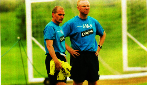 Alex McLesih with Jan Wouters (Left)  - A close friend of Barcelona Assistant Henk Ten Cate.