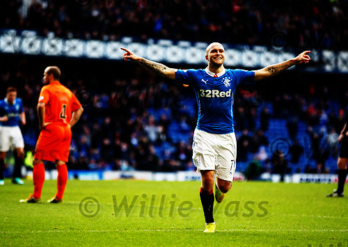 Nicky Law celebrates his second goal of the afternoon