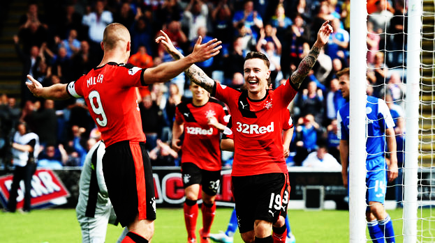 Celebrating his goal vs Queen of the South this season.