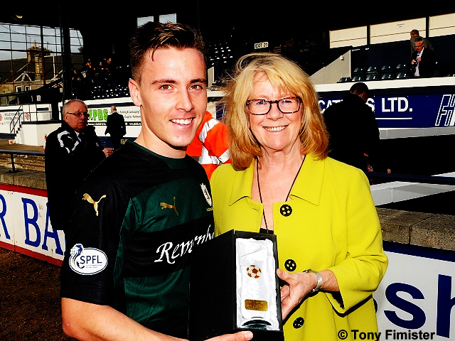 Man of the match against Falkirk for Raith Rovers.